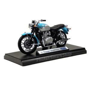 Vintage Triumph Bonneville Motorcycle Motorbike Model 1:18 Welly Diecast Gift