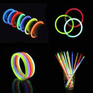 1000 8 INCH GLOW GLOWING STICKS BRACELETS PARTY EVENT FAVORS HOLIDAYS  Wholesale