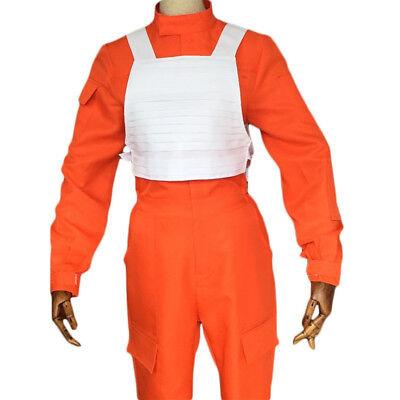 REBEL FIGHTER PILOT Star Wars ORANGE JUMPSUIT Cosplay Uniform Costume US SHIP - Star Wars Rebel Pilot Costume