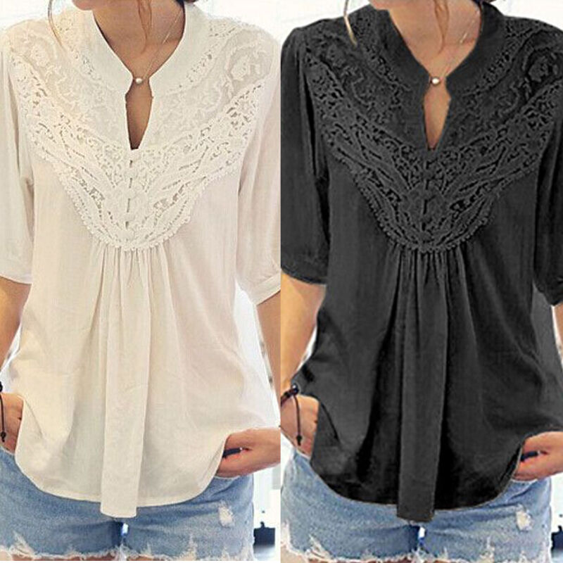 $4.99 - Fashion Women Summer Loose Top Short Sleeve Blouse Ladies Casual Tops T-Shirt