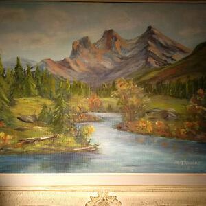 M. Thomas 1957 Mountain Scene London Ontario image 1