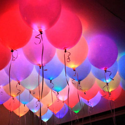 50 LED Balloons Glow In The Dark Light Up Party Balloons Lights Colors Luminous - Glow In Dark Light