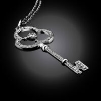 IAMOND KEY PENDANT PENDENTIF CLE DIAMANTS 0.42 CARATS EN OR 18K