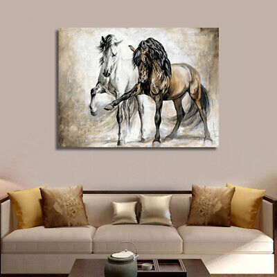 Retro Horse Abstract Oil Canvas Wall Home Art Painting Hanging Picture No Frame