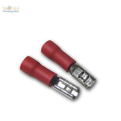 20 Kabelschuhe Flachsteckhülsen rot 2,8 x 0,5mm für 0,5-1,5mm² Kabelschuh Buchse