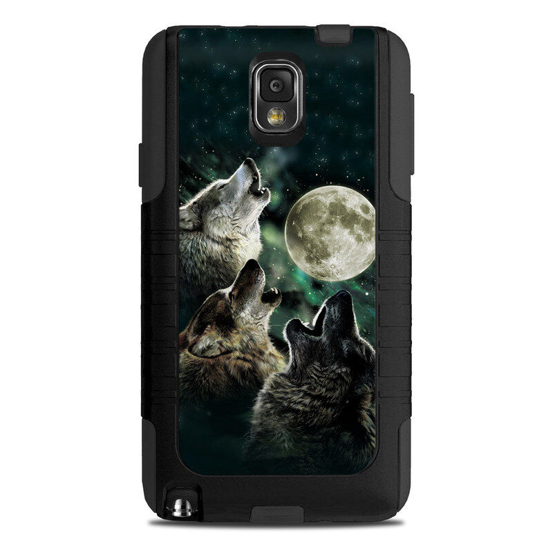 Otterbox Galaxy Note 3 Commuter Skin - Three Wolf Moon - Sticker Decal