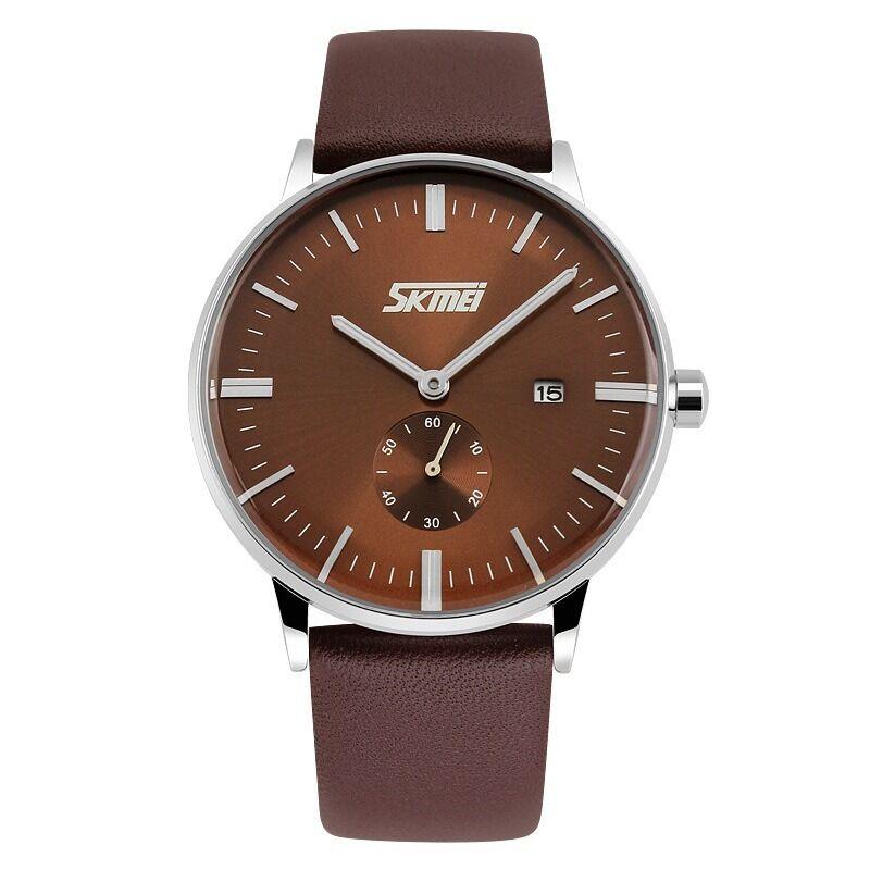Fashion Men's Watches Quartz Date Leather Band Analog Sport Casual Wrist Watch