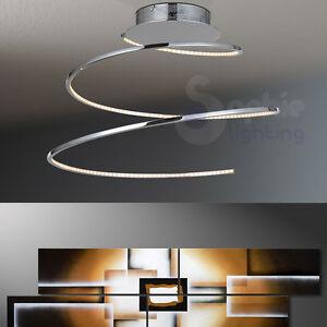 Dettagli su Plafoniera LED 22W lampada soffitto design moderno acciaio ...