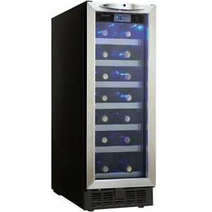 Danby Silhouette 12 in. 27 Bottle Built-in Wine Cooler DWC276BLS