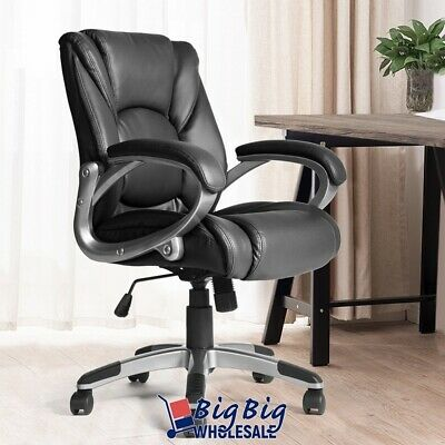 Boss Leather Chair - Leather Executive Office Chair Swivel High Back Computer Desk Boss Work Seat