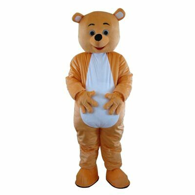 1# Cute Orange Teddy Bear Mascot Costume Suit Cosplay Game Dress Outfit Adult 1P - Cute Teddy Bear Costume