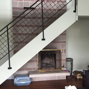 LOCATION!! 2LEVEL 1br +DEN. 16 FOOT STONE FIREPLACE