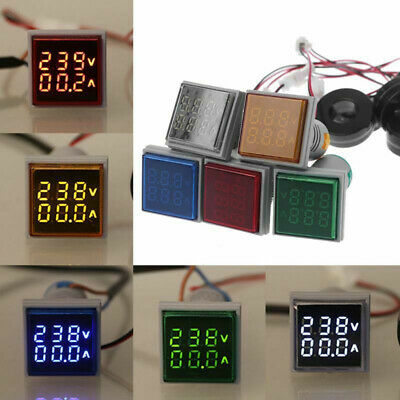 Led Ac Voltage Digital Display Voltmeter Dual Ammeter Gauge Meter 60-500v 0-100a