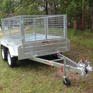 8ft x 5ft DUAL AXLE GALVANISED BOX TRAILER with 400mm SIDES Yeerongpilly Brisbane South West Preview