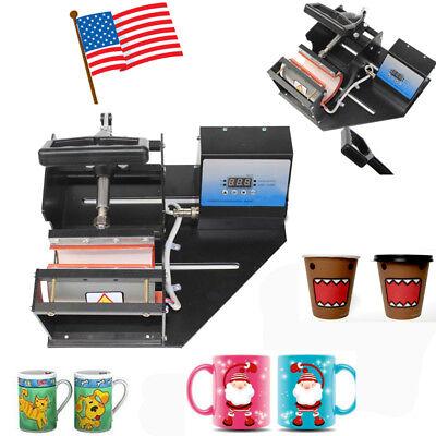 Dual Station Digital Transfer Sublimation Heat Press Machine Coffee Cup Mug Cup