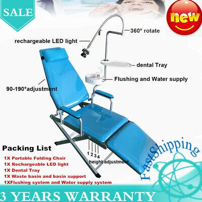 Dental Portable Folding Chair Led Light Dental Tray Water Supply System