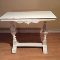 Antique white hall table