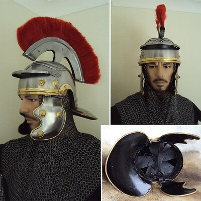 BIG SALE - Red Plume Roman Centurion Helmet For Theatre Or Costume Use  # (Theatre Costumes For Sale)