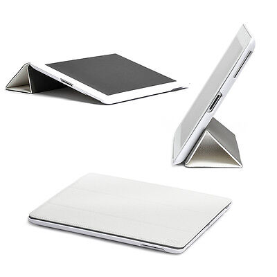 Ultra Thin Leather Magnetic Smart Folio Case Cover For iPad 4 3 2 White TABiUK