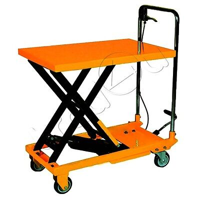 300kg Hydraulic Platform Table Trolley Lift Mobile Lifting Table Cart Truck