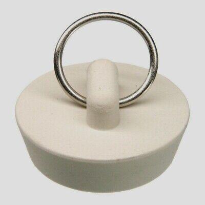 Danco 35979B 1-5/8-Inch Rubber Drain Stopper, White, 1 per B