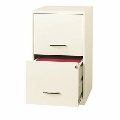 Hirsh 18 Deep 2 Drawer File Cabinet In Pearl White