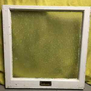 Antique Window Pane with Frosted Glass