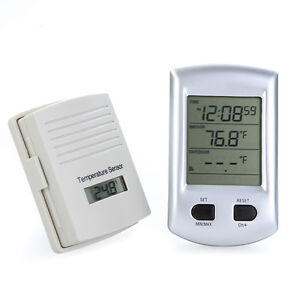 Digital Wireless Weather Station Thermometer Temperature Sensor 2 Mode Clock