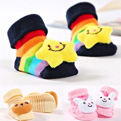 Infant Newborn Baby Anti Skid Stockings Shoes Cute Kids Boy Girl Animals Sock ()