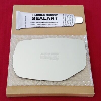Mirror Glass Replacement + Silicone Adhesive For 13-17 Honda Accord Driver