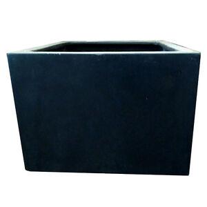 100cm black polystone jumbo square garden planter plant for 100 cm window box