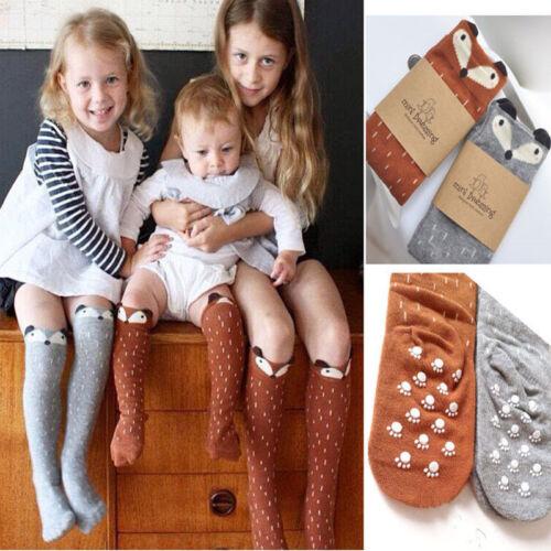 Baby  Kinder Cute Socken Kinderstrümpfe Langsocken Fuchs Kindersocken Strümpfe