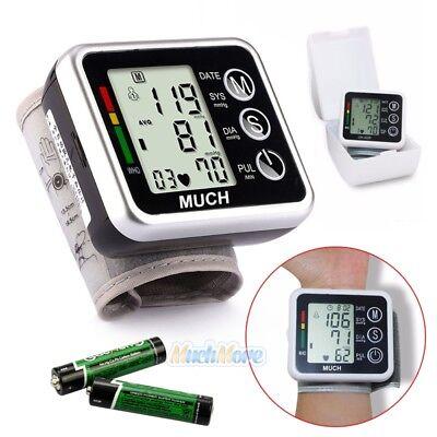 Automatic Digital Wrist Blood Pressure Monitor Bp Cuff Gauge Machine Sensor Test