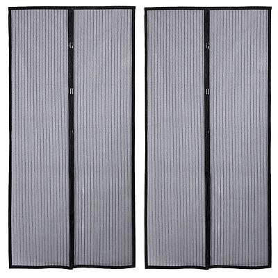 2 Magnetic Screen Door Net Anti Mosquito Magic Mesh Hands-Free Bug Curtain Patio