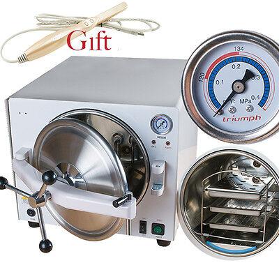 Us Dental Medical Autoclave Steam Sterilizer Equipment 121 0.12mpa 18l Gift