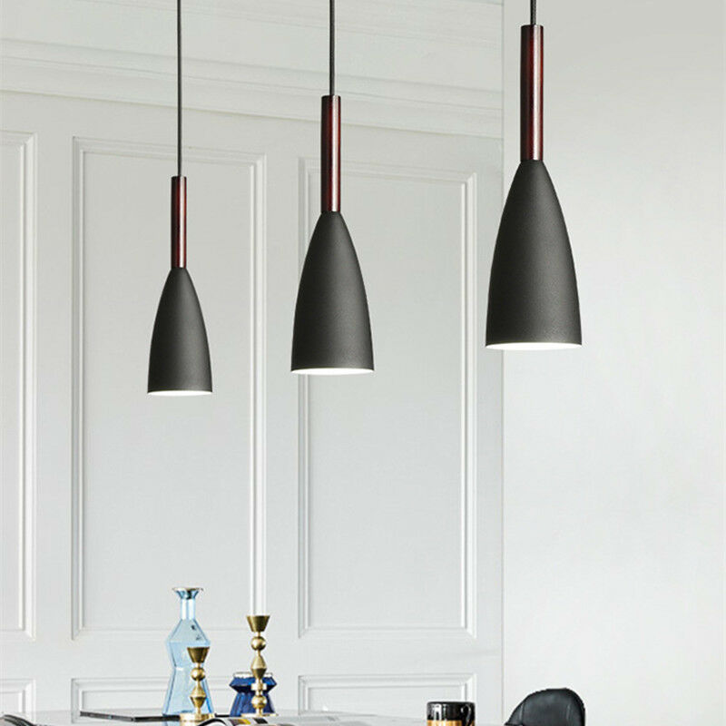 Black Pendant Lighting Bar Lamp Kitchen Modern Pendant ...