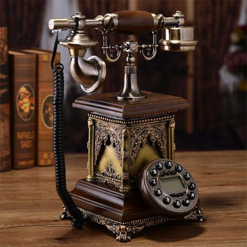 European American Antique phone Retro Vintage Home corded telephone F033