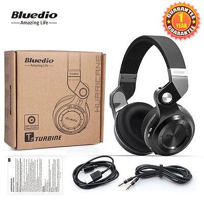 NEW Bluedio Turbine T2 Wireless Headphone Bluetooth 4.1 Stereo Headsets Black