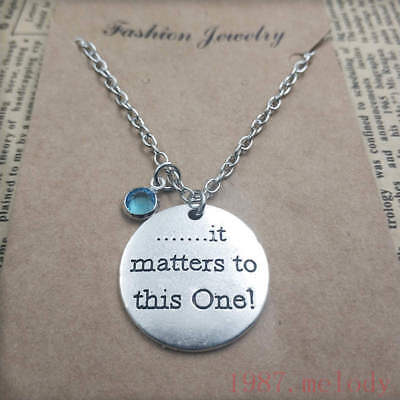 Personalized,it matters to this one Silver handmade birthstone Necklace,Pendant