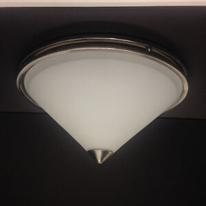 Glass / Satin Nickel Ceiling Lights