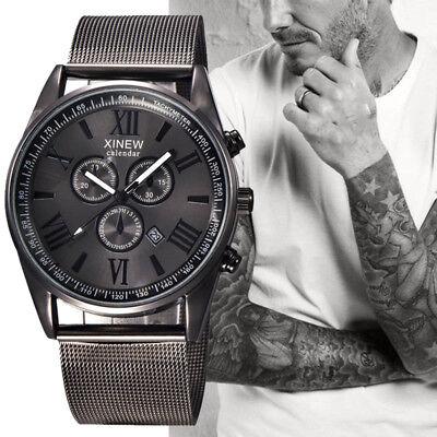 $13.98 - Men's Fashion Luxury Watch Stainless Steel Date Sport Analog Quartz Wristwatches