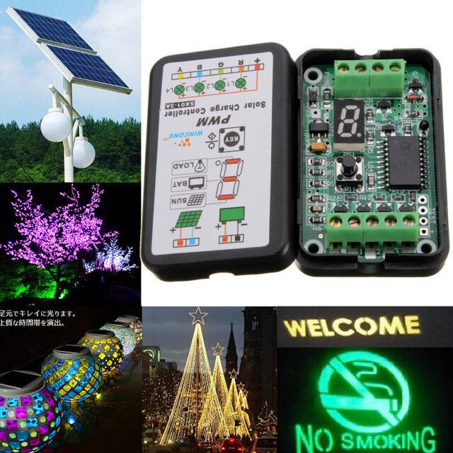 3A 6V 12V PWM Solar Panel Light Controller Battery Charge Regulator Intelligent