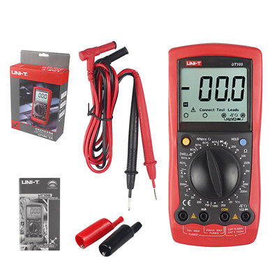 Digital Automotive Tester Uni-t Ut105 Acv Dcv Multimeter Ohmmeter Dwell Rpm T