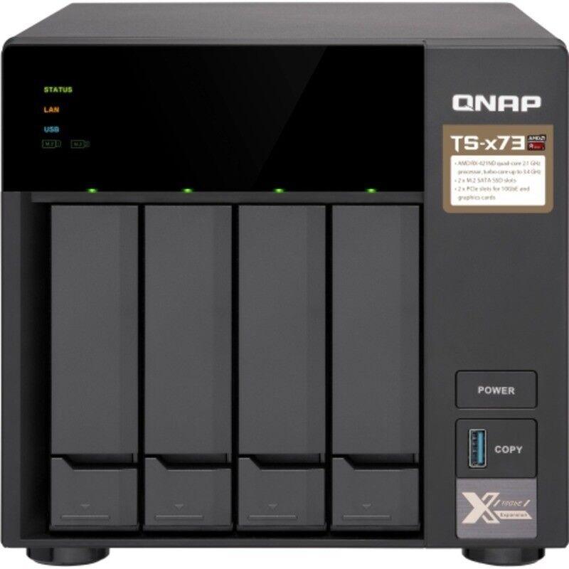 QNAP TS-473 40tb NAS Server 4x10000gb Seagate EXOS X10 Drives