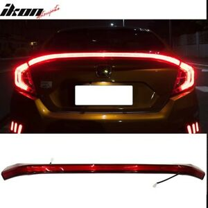 Civic sedan rear trunk full LED spoiler light.