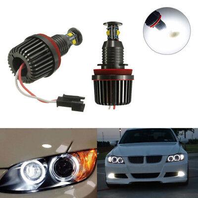 LED Angel Eyes Halo Light H8 Bulb 40W For BMW  E90 E92 E60 E63 E84 E70 X5 E71 X6