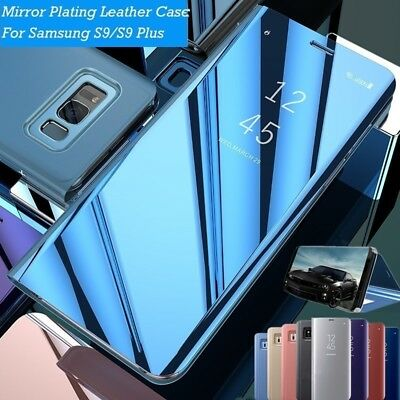 Mirror Flip Phone Case Smart Stand Cover for Samsung Galaxy S7 S8 S9 Plus Note 8