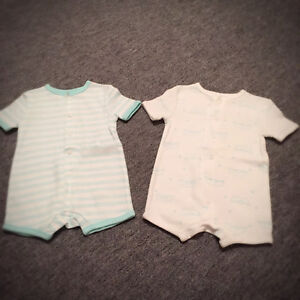 Brand new two summer baby onesie neutral colors for only $5