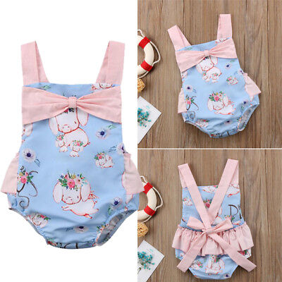 Kleinkind Kinder Baby Mädchen Ostern Tutu Strampler Kleider Body Kleidung Outfit