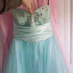 Mint green/blue graduation dress St. John's Newfoundland image 2